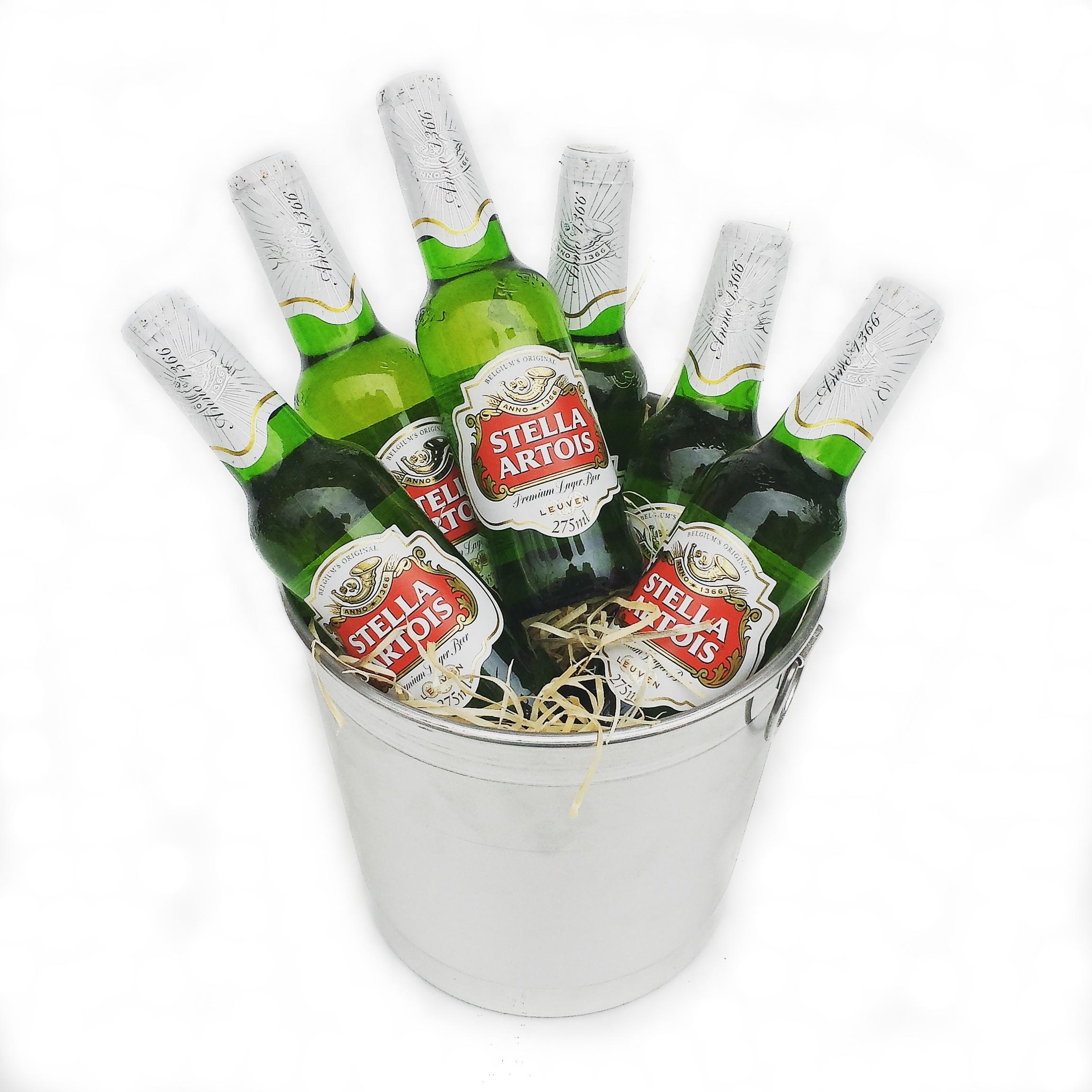 Muito Balde com Cerveja Stella Artois Cod. H-001 | Floricultura Cheiro  IX97