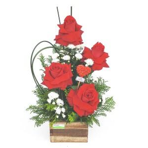 Arranjo-Com-4-Rosas-Importadas-no-Cachepô