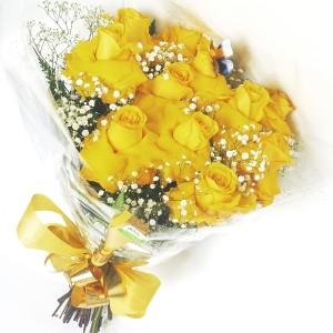 Buquê-com-Rosas-Importadas-Amarelas